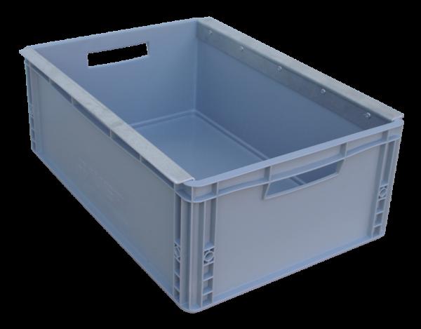 Kunststoffkasten groß 600 x 400 x 220 mm mit Haltewinkel