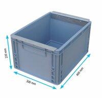 Kunststoffkasten klein 400 x 300 x 220 mm mit Haltewinkel