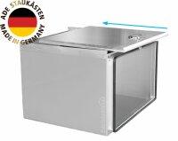 ADE Schubdeckelkasten Edelstahl 500 x 350 x 400 mm, Werkzeugkasten, Staukasten, Staubox, Unteflurbox