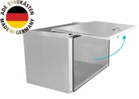 ADE Schubdeckelkasten Edelstahl 800 x 500 x 500 mm,...