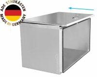 ADE Schubdeckelkasten Edelstahl 800 x 500 x 500 mm, Werkzeugkasten, Staukasten, Staubox, Unterflurbox