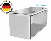 ADE Schubdeckelkasten Edelstahl 1000 x 600 x 600 mm, Werkzeugkasten, Staukasten, Staubox, Unterflurbox