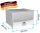 ADE Schubdeckelkasten Edelstahl, Deckel poliert 500 x 350 x 400 mm, Werkzeugkasten, Staukasten, Staubox, Unterflurbox