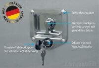 ADE Schubdeckelkasten Edelstahl, Deckel poliert 800 x 500 x 500 mm, Werkzeugkasten, Staukasten, Staubox, Unterflurbox
