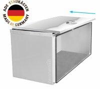 ADE Schubdeckelkasten Edelstahl, Deckel poliert 1000 x 500 x 500 mm, Werkzeugkasten, Staukasten, Staubox, Unterflurbox