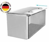 ADE Schubdeckelkasten Edelstahl, Deckel poliert 1000 x 600 x 600 mm, Werkzeugkasten, Staukasten, Staubox, Unterflurbox