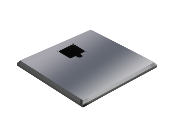ADE Ersatzdeckel aus Edelstahl 400 x 600 mm