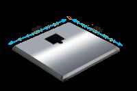 ADE Ersatzdeckel aus Edelstahl poliert 400 x 600 mm