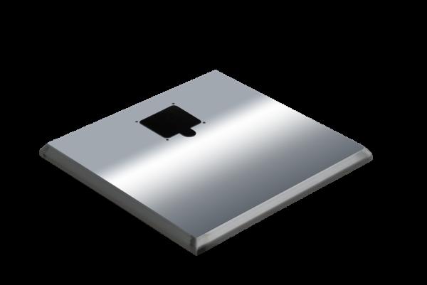 ADE Ersatzdeckel aus Edelstahl poliert 600 x 600 mm