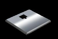 ADE Ersatzdeckel aus Edelstahl poliert 800 x 500 mm