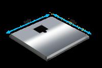 ADE Ersatzdeckel aus Edelstahl poliert 1000 x 600 mm