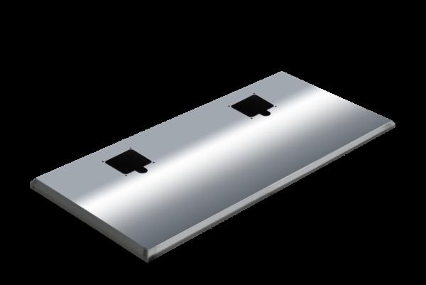 ADE Ersatzdeckel aus Edelstahl poliert 1450 x 500 mm