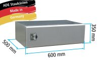 ADE Staukasten aus Edelstahl 350x600x500mm
