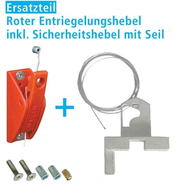 Daken ET Roter Entriegelungshebel inkl. Sicherheitshebel mit Seil für Daken BLACKSTONE COMBO