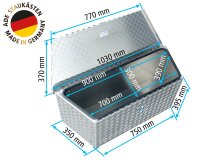 ADE Trapez Deichselbox 1000/750x350x400 Deichselkasten...