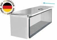 ADE Schubdeckelkasten Edelstahl 700 x 360 x 350 mm, Werkzeugkasten, Staukasten, Staubox, Unterflurbox