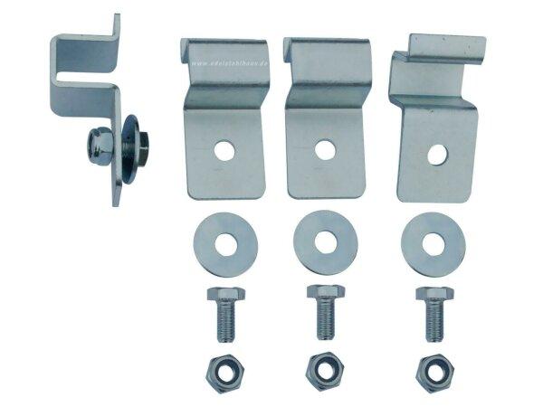 MON1104 - Montagesatz für ADE Deichselbox - 4 Haltewinkel - gekantetes C-Profil