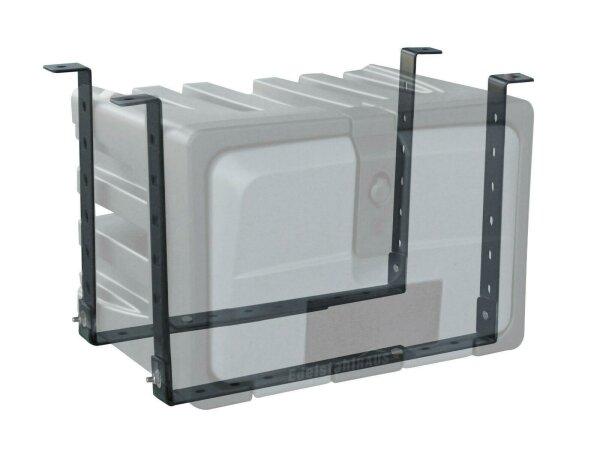 Halter für LKW Staukasten, Breite 1000 mm, verstellbar 350-550mm Höhe - Lago VH100