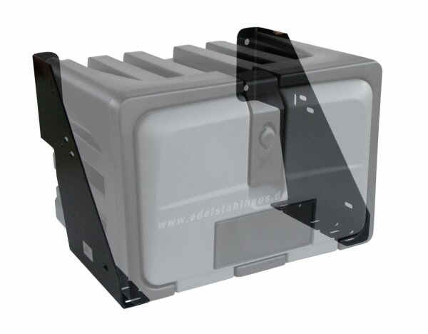 Korbhalter für LKW Staukasten bis 500 mm Breite - Halter Lago KH050
