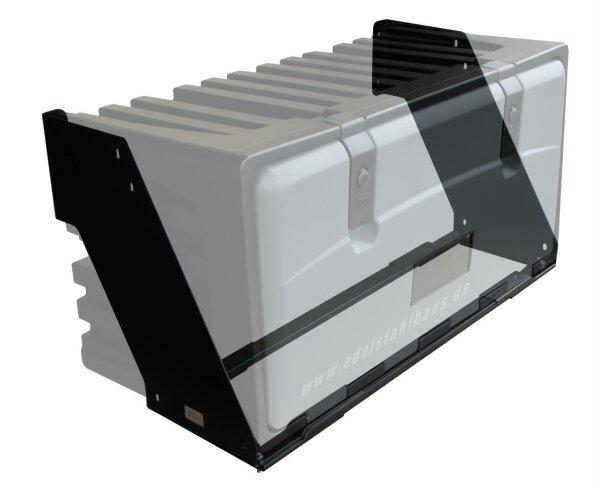 Korbhalter für LKW Staukasten bis 750 mm Breite - Halter Lago KH075