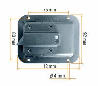 Truckbox Ersatz Verschlusseinheit  aus Edelstahl mit Zylinderschloss, TB004
