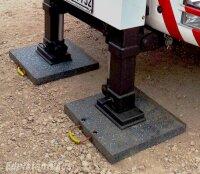 Abstützplatte LAB-50-50-6 cm, Unterlegplatten, Kranplatten, Kranabstützplatten