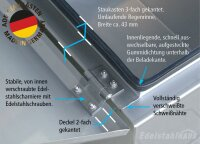ADE Staukasten aus 2mm Edelstahl 500x450x680mm W1V20N050-45-68